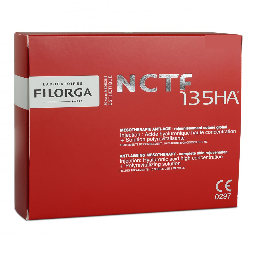 Kup Filorga NCTF 135HA (10x3ml) z wałkiem mikroigłowym 0.5mm