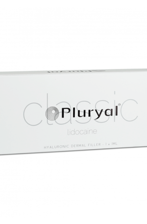Pluryal Classic Lidocaine is a sterile, biodegradable, viscoelastic, clear, transparent, isotonic and homogenized injectable gel implant.